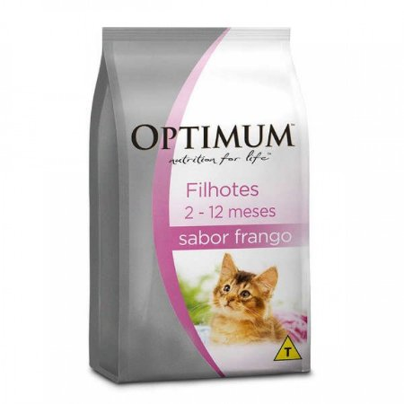 Ração Optimum - Frango - Para Gatos Filhotes - 1kg