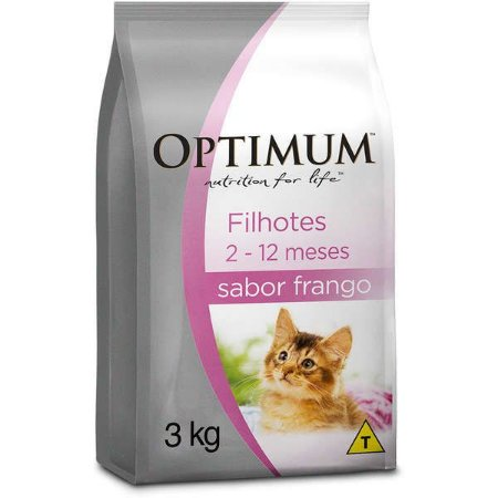 Ração Optimum - Frango - Para Gatos Filhotes - 3kg