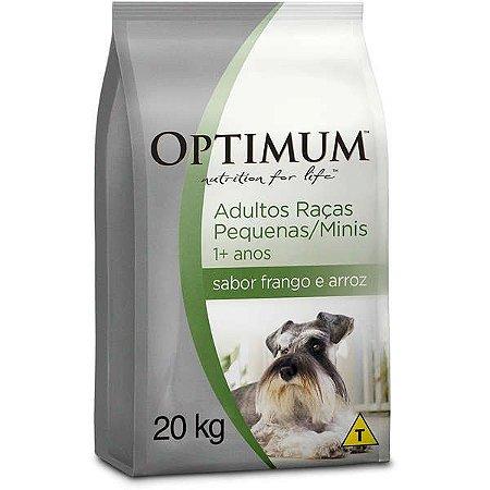 Ração Optimum - Frango e Arroz - Para Cães Adultos Raças Pequenas e Minis - 20kg