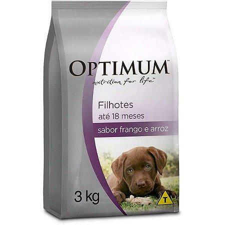 Ração Optimum - Frango e Arroz - Para Cães Filhotes de Raças Pequenas - 3kg