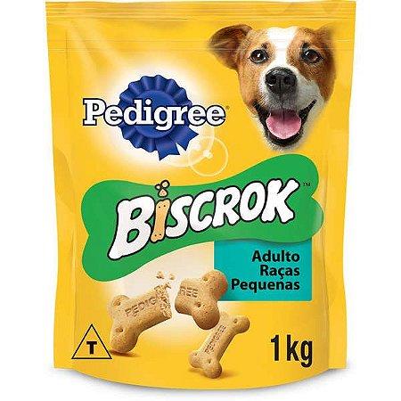 Biscoito Pedigree - Biscrok para Cães Adultos de Raças Pequenas - 1Kg