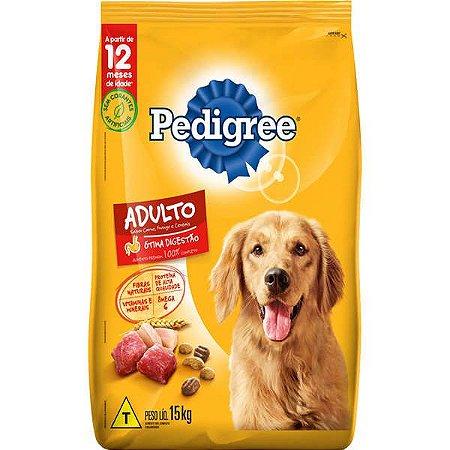 Ração Pedigree - Carne, Frango e Cereais - Para Cães Adultos Raças Médias e Grandes 15Kg