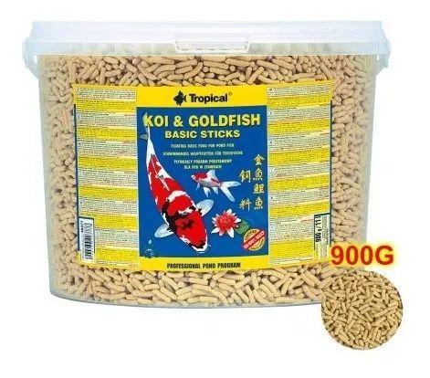Ração Tropical Koi & Goldfish Basic Sticks - Para Peixes - 900g