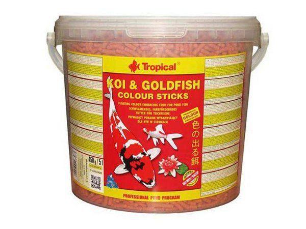 Ração Tropical Koi & Goldfish Colour Sticks - Para Peixes - 440g
