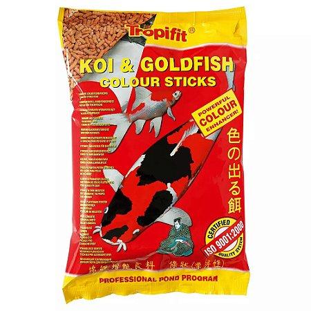 Ração Tropical Koi & Goldfish Colour Sticks - Para Peixes - Sachês 90g