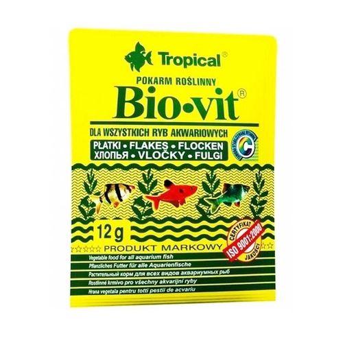 Ração Tropical Bio-Vit - Para Peixes Herbívoros e Onívoros - Sachês 12g