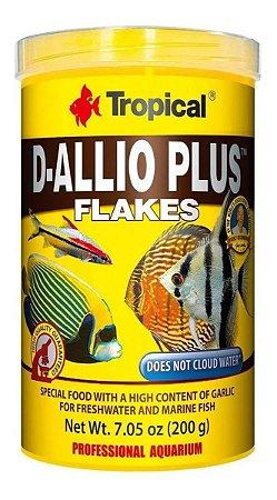 Ração Tropical D-allio Plus Flakes - Para Peixes Ornamentais - 20g