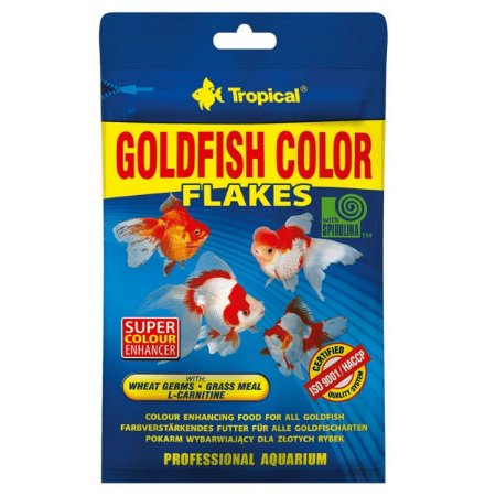 Ração Tropical Goldfish Colour Flakes - Para Peixes Ornamentais - 12g