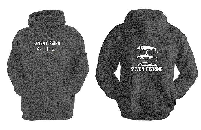 Blusa de Moletom Seven Fishing Agrosete - Cinza Escuro