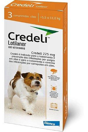 Antipulgas e Carrapatos Elanco Credeli - Para Cães de 5,5 a 11Kg