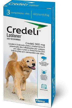 Antipulgas e Carrapatos Elanco Credeli 225 mg - Para Cães de 22 a 45Kg