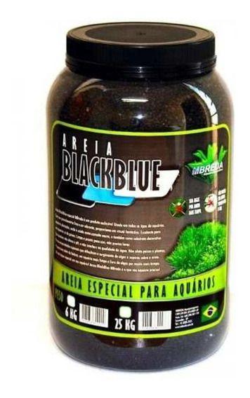 Areia MBreda  Preta Black Blue Pote - 6Kg