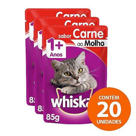 Ração Úmida Whiskas - Sachê Para Gatos Adultos 85g - Kit Com 20 Unidades