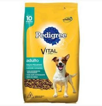 Ração Pedigree Para Cães Adultos de Raças Pequenas - 3Kg