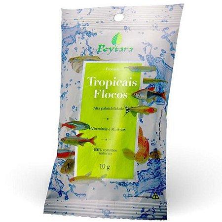 Ração Tropicais Flocos Poytara  para Peixes Ornamentais - Sachê 10g