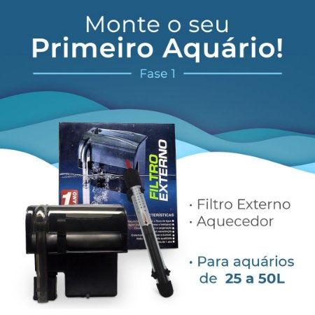 Kit Monte seu primeiro aquário de 25 a 50 Litros - Fase 1