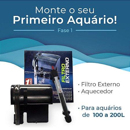 Kit Monte seu primeiro aquário de 100 a 200 Litros - Fase 1