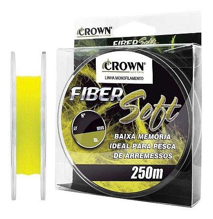 Linha Crown Monofilamento Fiber Soft para pesca - 250m