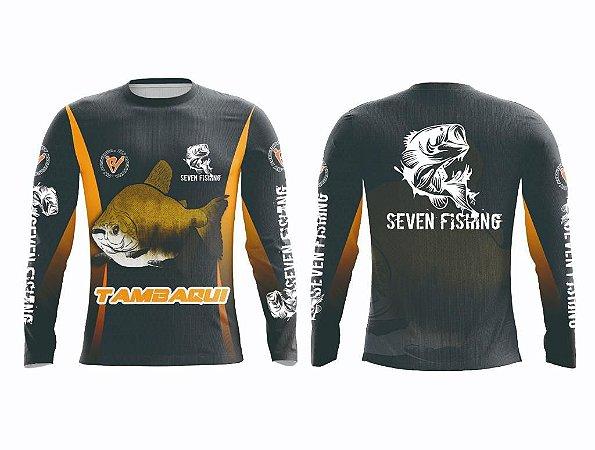 Camisa Manga Comprida  Seven Fishing com Estampa Tambaqui - Gola Careca