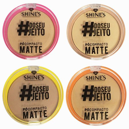 Pó Compacto Matte Shine Kit 4 und
