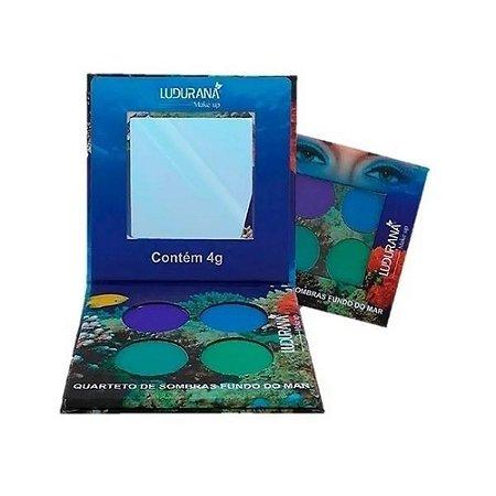 Quarteto de sombras matte fundo do mar 4g m00071