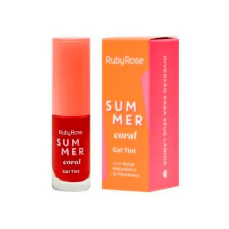 Gel Tint Sumer Coral Ruby Rose HB-555