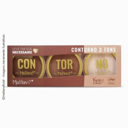 Kit de contorno C/3 tons - Vegano - Mahav