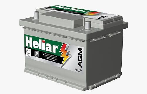 BATERIA AUTOMOTIVA HELIAR AGM START STOP AG60HD CCA680