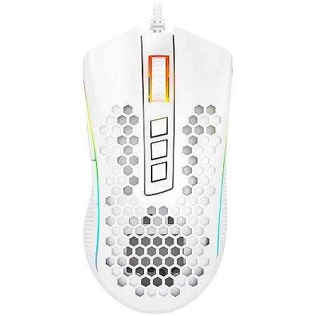 Mouse Gamer Redragon Storm Elite Lunar White M988W RGB