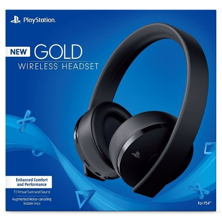 Headset Sony Gold 7.1 Wireless (Novo Modelo) - PS4