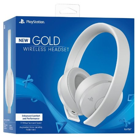 Headset Sony Gold 7.1 Wireless BRANCO - PS4