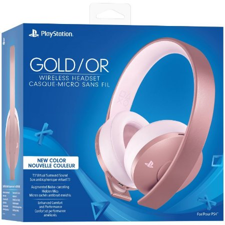 Headset Sony Gold Rose 7.1 Wireless (Novo Modelo) - PS4