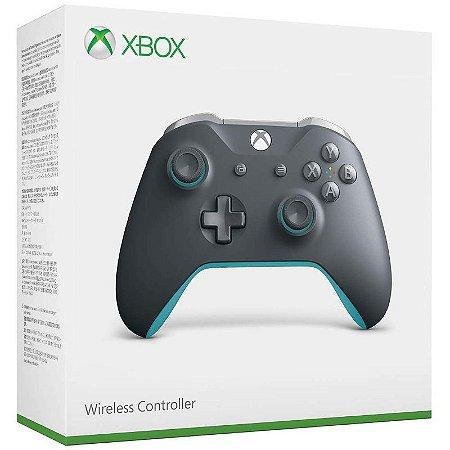 Controle Wireless Grey/Blue - Xbox One