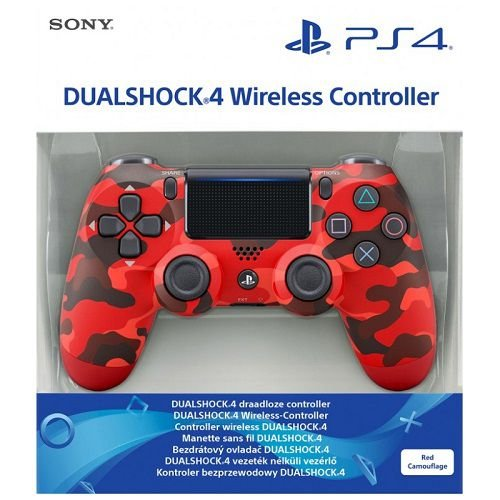 Controle Dualshock 4 Camuflado Vermelho (Novo Modelo) - PS4