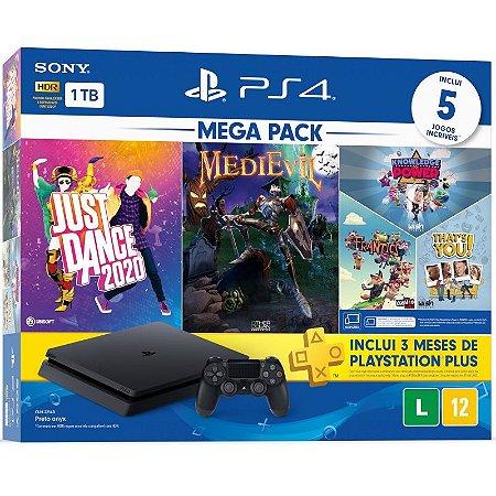Console Playstation 4 1TB Slim Mega Pack 11