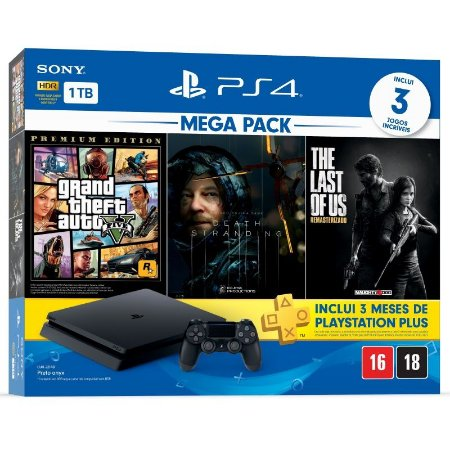 Console Playstation 4 1TB Slim Mega Pack 09