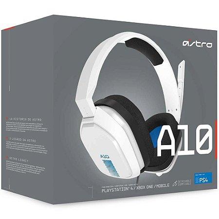 Headset Astro A10 BRANCO - PS4