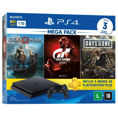 Console Playstation 4 1TB Slim Mega Pack 12
