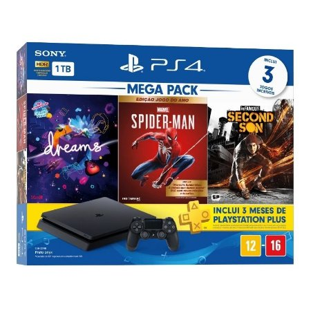 Console Playstation 4 1TB Slim Mega Pack 17