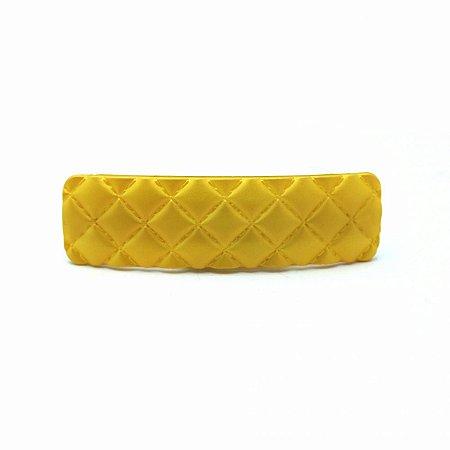 Prendedor Barrete Amarelo Fosco