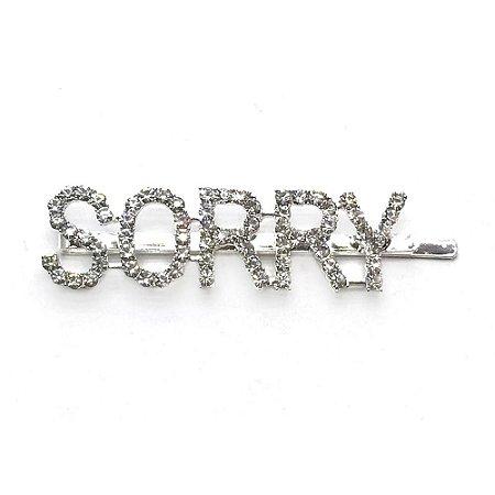 "Prendedor palavra ""Sorry"""