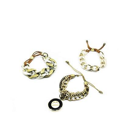Kit com 3 pulseiras