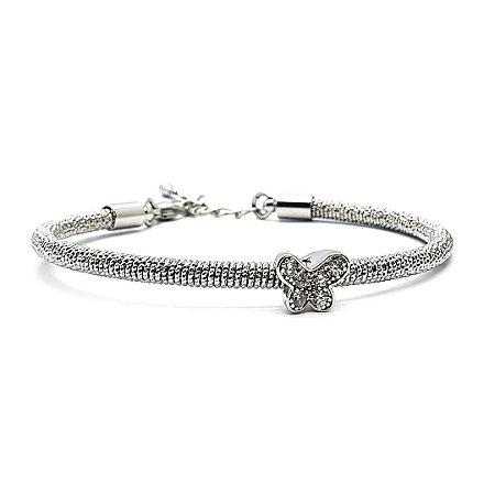 Pulseira bracelete na cor prata
