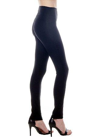 Calça  Skinny Alfaiataria Elastano Cintura Alta Bengaline Preta