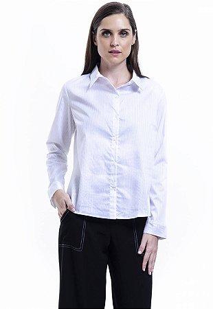 Camisa Tricoline Elastano Branco