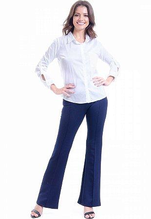 Camisa Algodao Elastano Branco