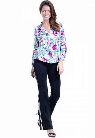 Camisa viscose Estampa Floral