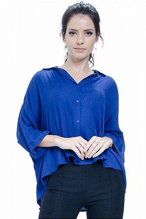 Camisa Poncho Viscose Royal