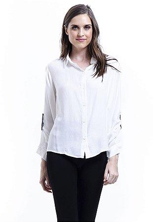 Camisa Viscose Com Reguladores Branca Off
