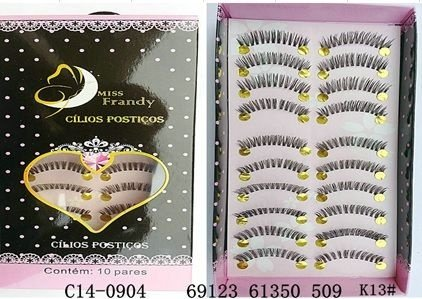 Cilios Postiços 10 pares Mis Frandy C14-0904